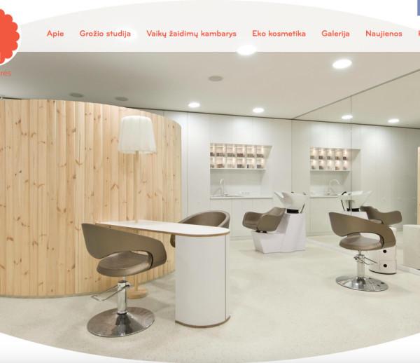 Family health and beauty salon's website development