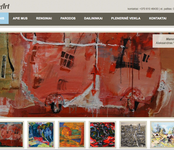 Juozas Art gallery website development