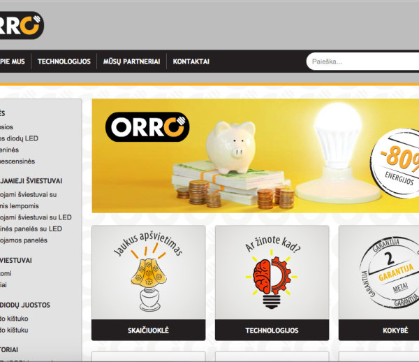 Orro website and custom module development