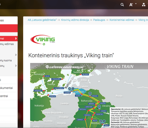 Viking Trains brand book and logo