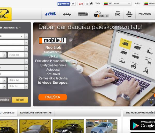 BRC Autocenter website development
