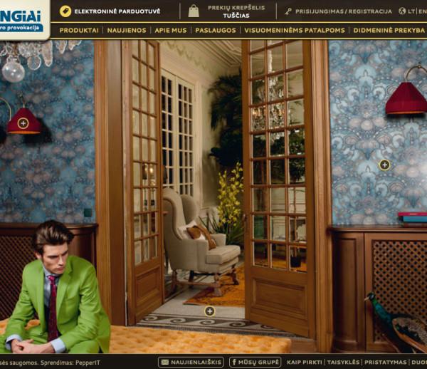 Dubingiai interior design e-shop development