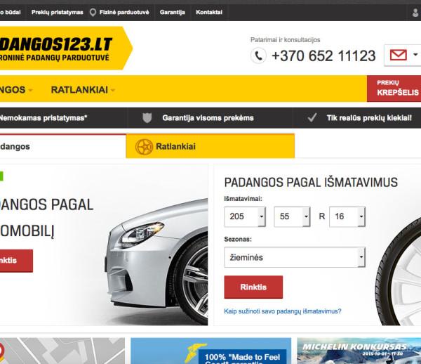 SEO campaign for padangos123.lt