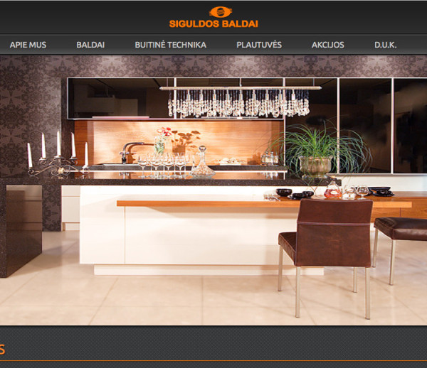Interior design salon's web development and SEO