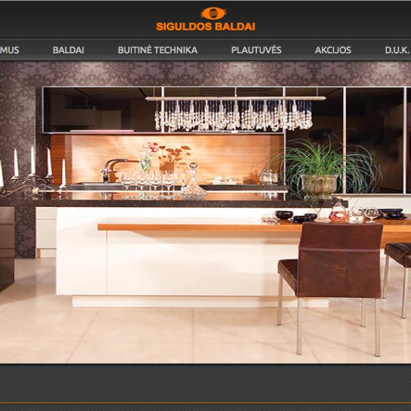 Interior design salon's web development and SEO