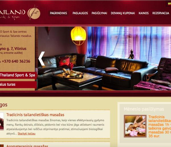 Thailandspa interactive website development