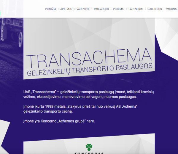 Transachema website development