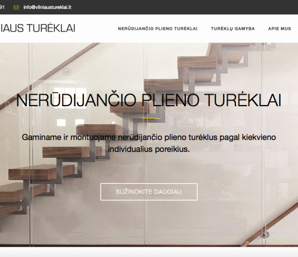 Vilniaus Tureklai website development