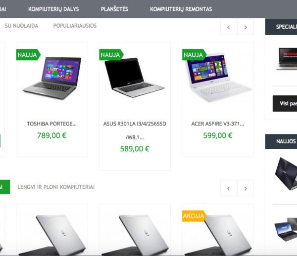 Nesiojami computer e-shop development